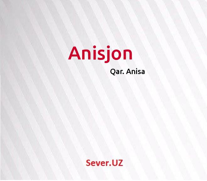 Anisjon