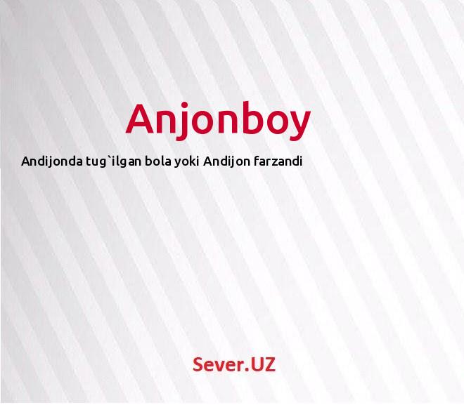Anjonboy