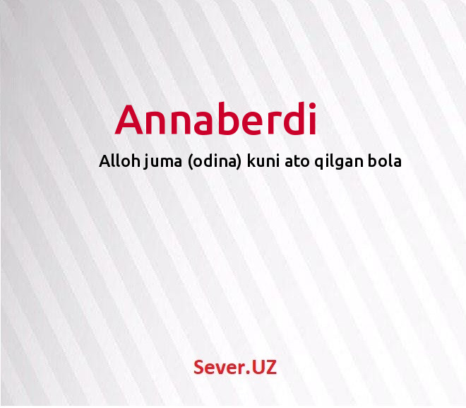 Annaberdi
