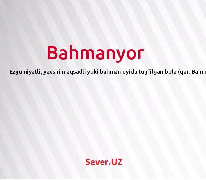 Bahmanyor