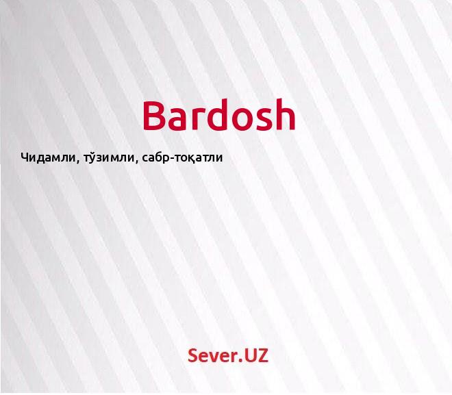 Bardosh