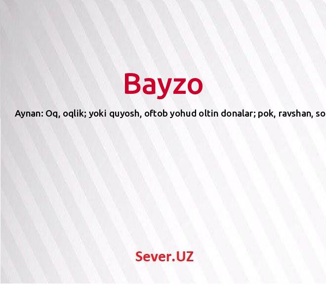 Bayzo