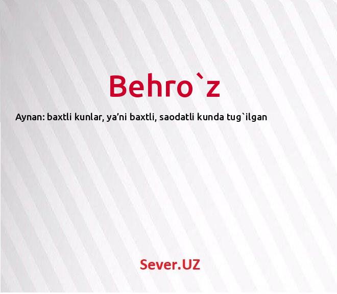 Behro`z