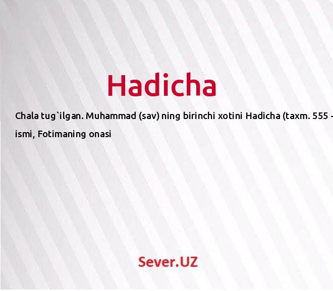 Hadicha