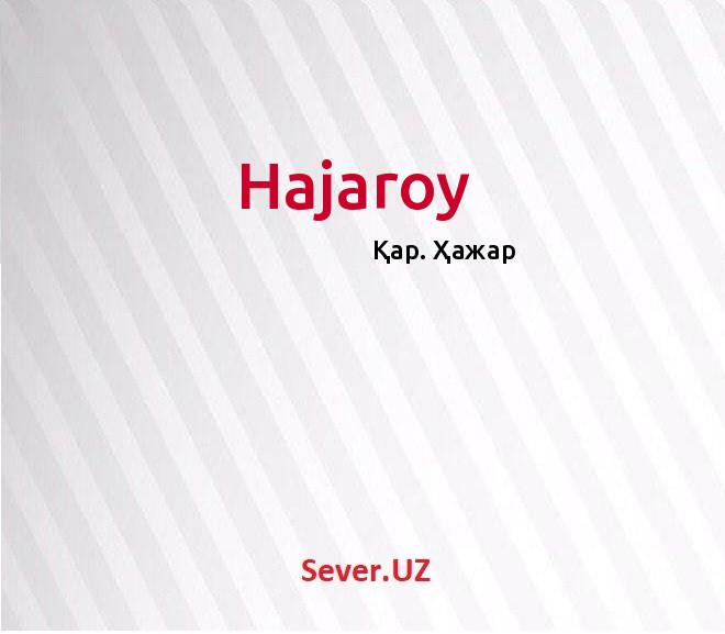 Hajaroy