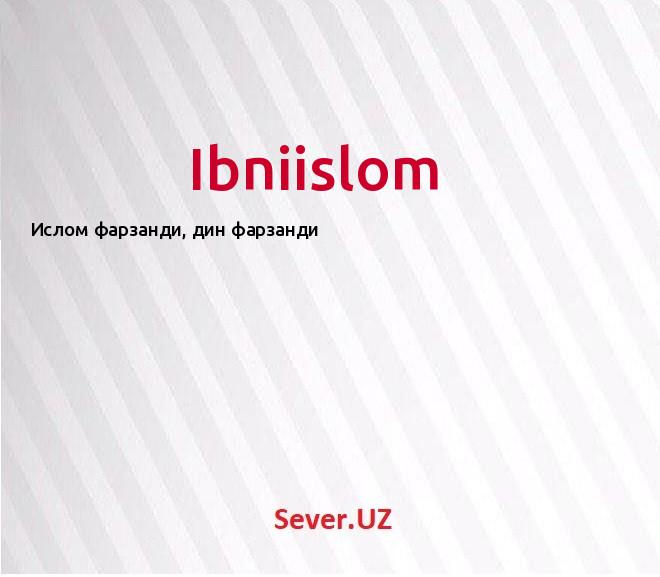 Ibniislom