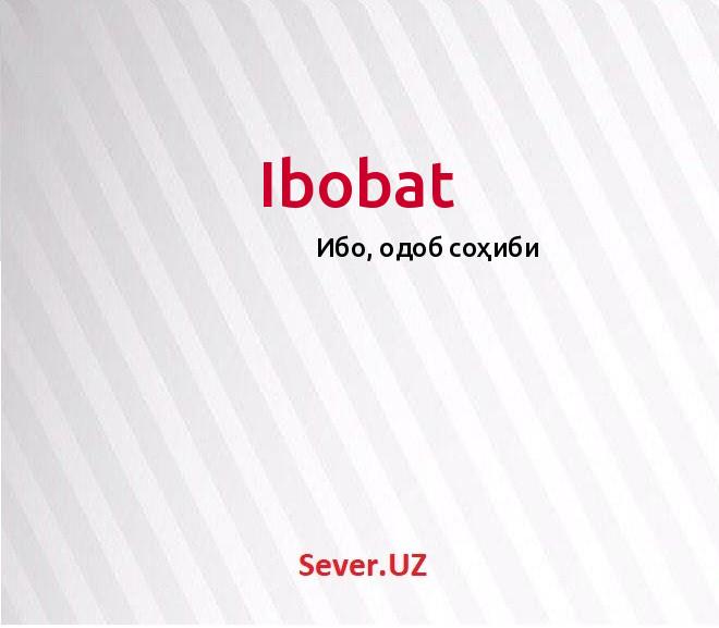 Ibobat