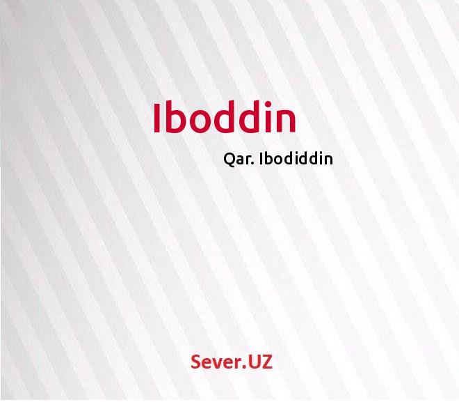 Iboddin