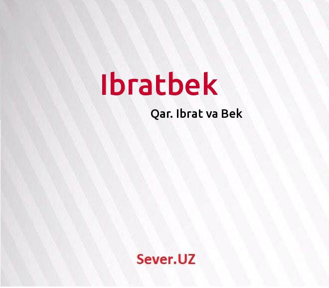 Ibratbek