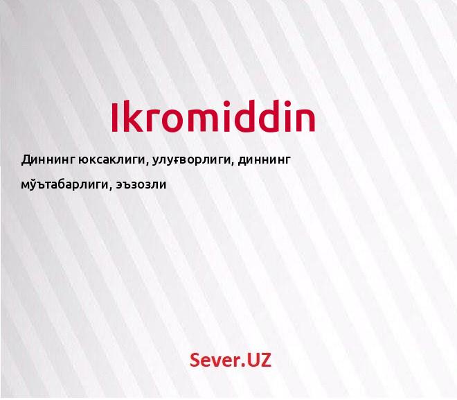 Ikromiddin