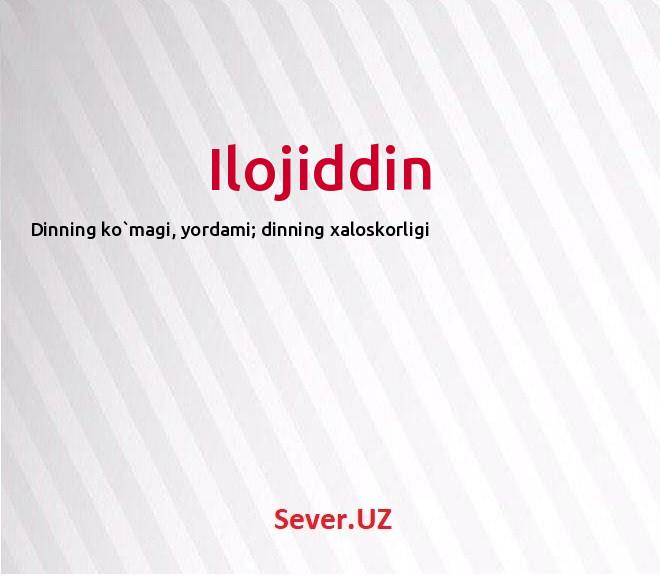 Ilojiddin
