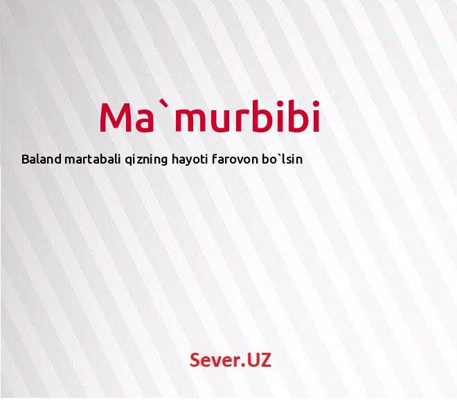 Ma`murbibi