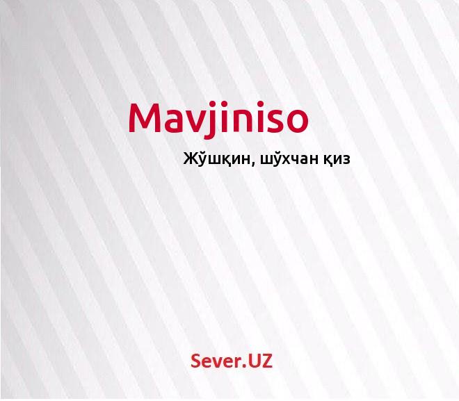 Mavjiniso