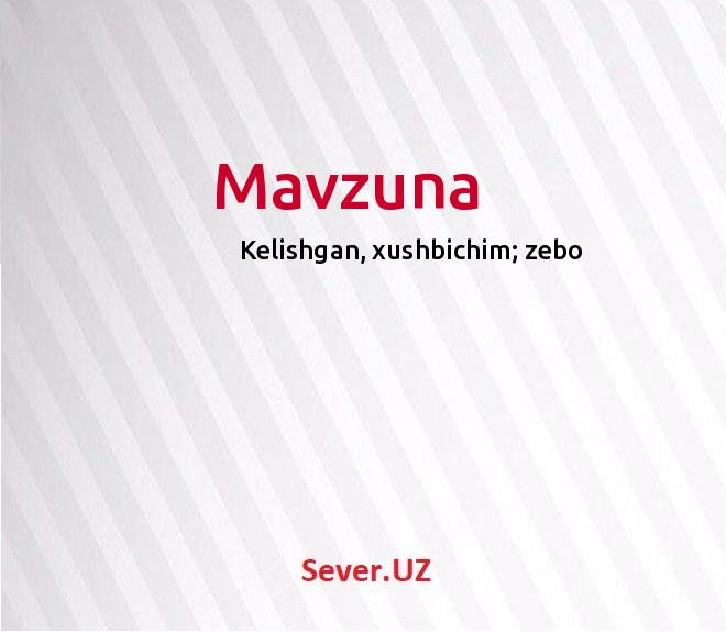 Mavzuna