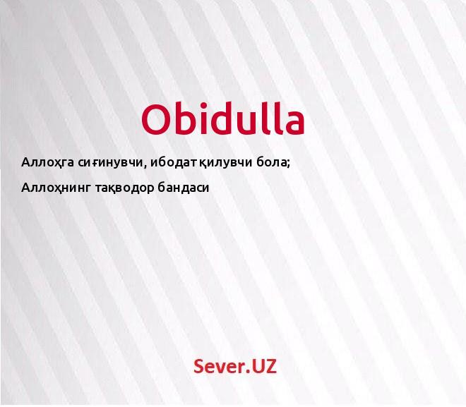 Obidulla