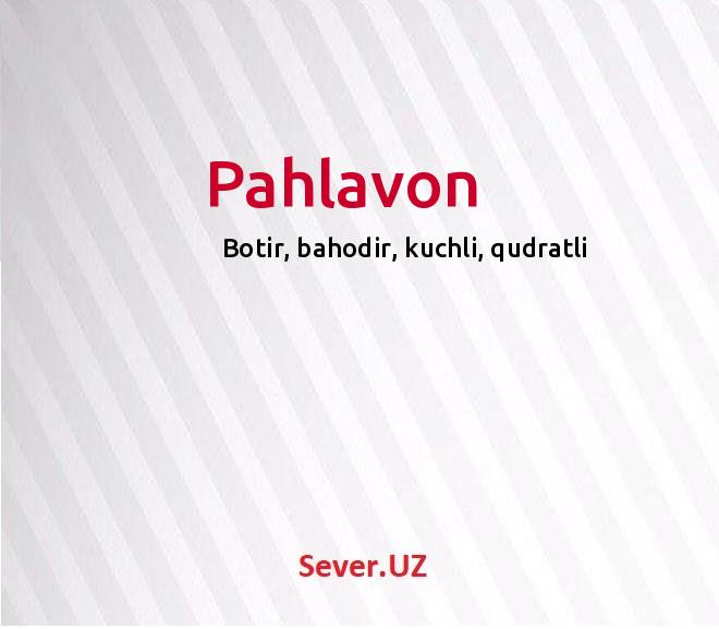 Pahlavon