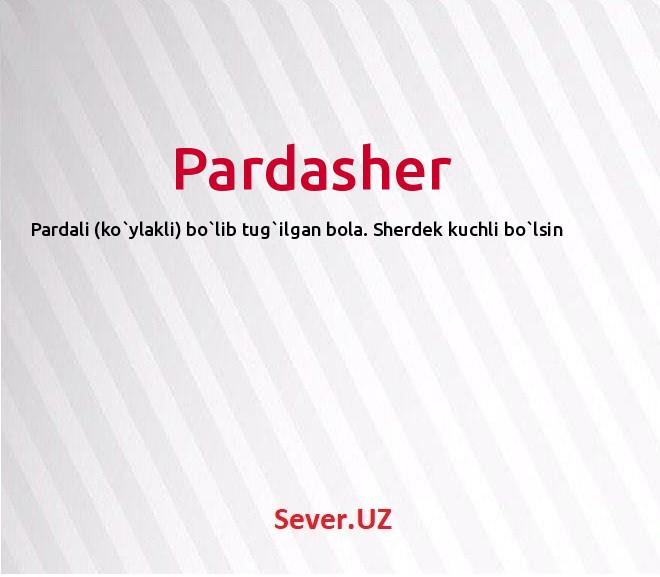 Pardasher