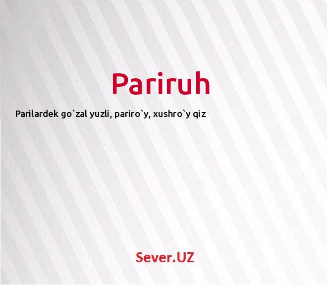 Pariruh