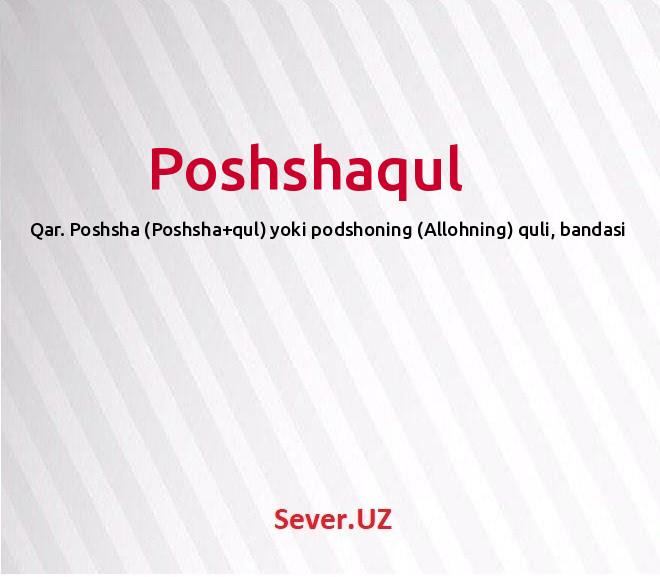 Poshshaqul