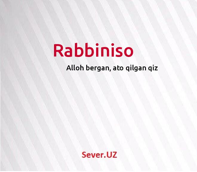 Rabbiniso