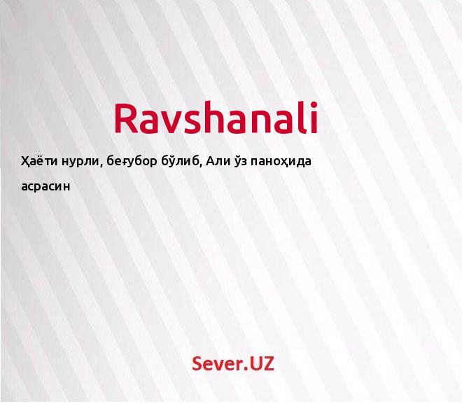 Ravshanali