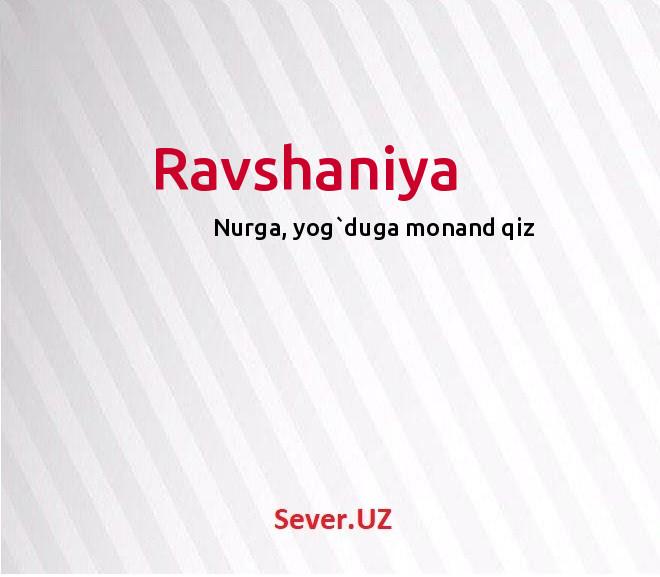 Ravshaniya