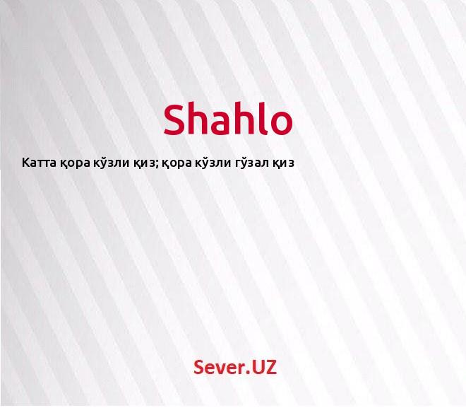 Shahlo