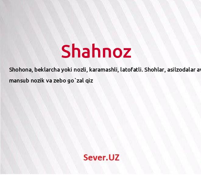 Shahnoz