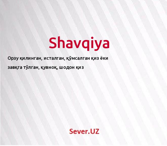 Shavqiya