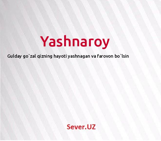 Yashnaroy