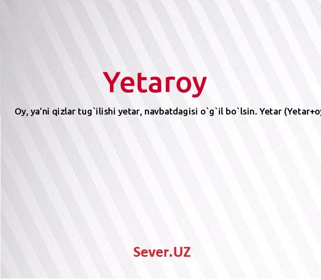Yetaroy