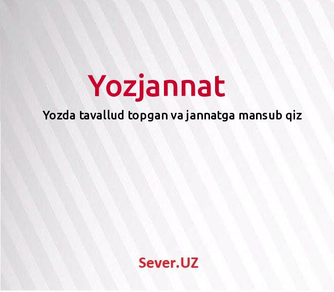 Yozjannat