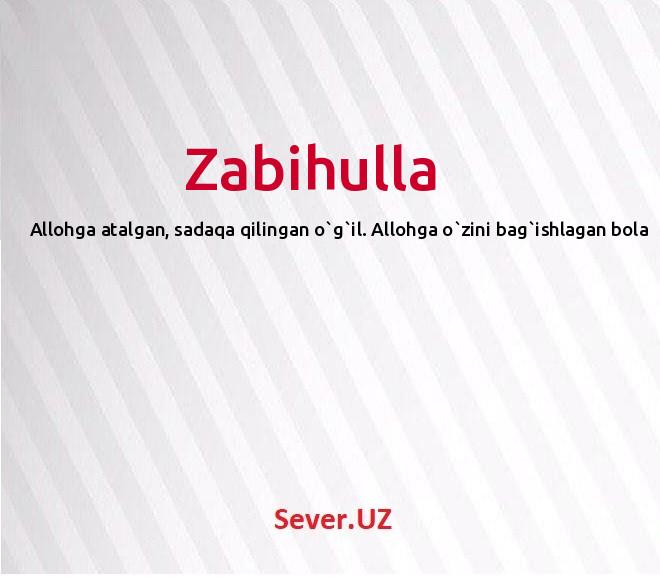 Zabihulla