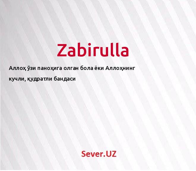 Zabirulla