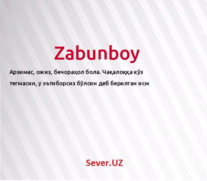 Zabunboy