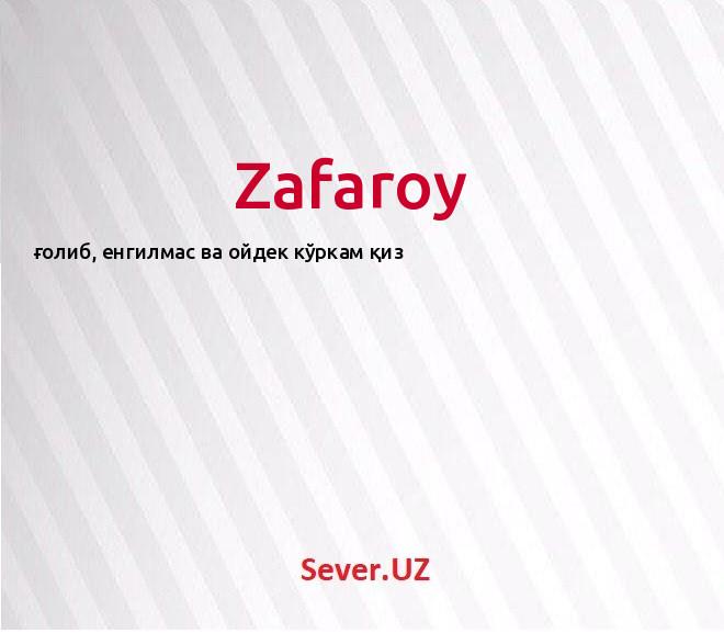 Zafaroy