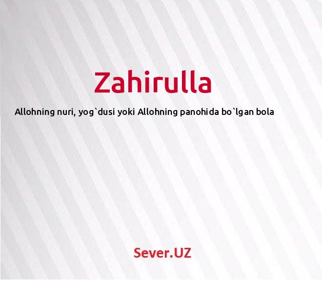 Zahirulla