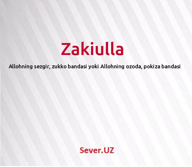 Zakiulla