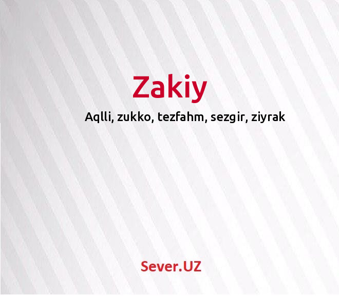 Zakiy