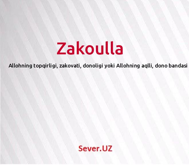 Zakoulla