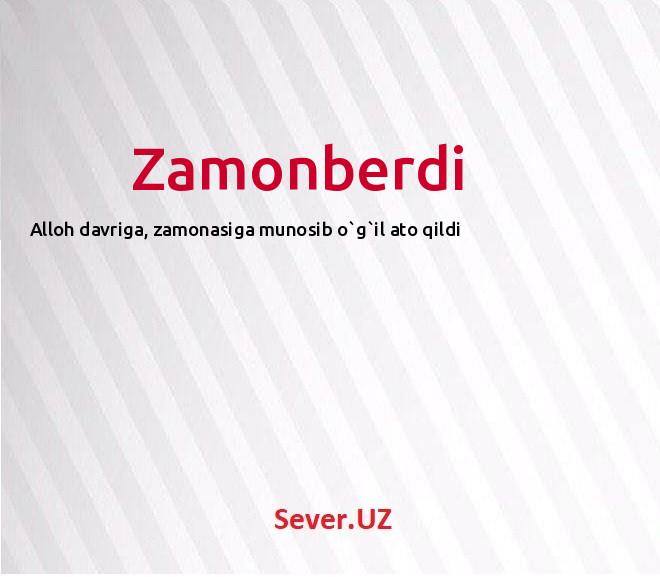 Zamonberdi