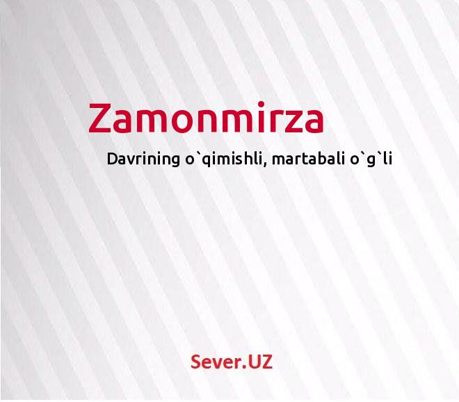 Zamonmirza
