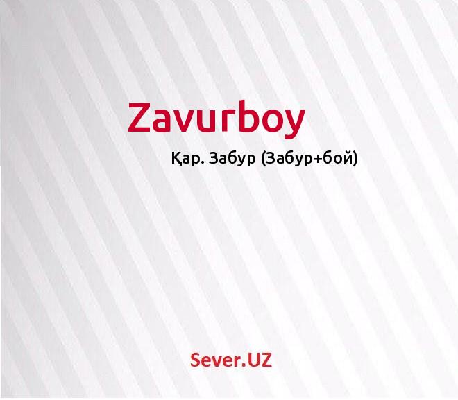 Zavurboy