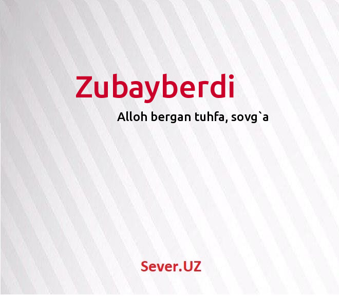 Zubayberdi