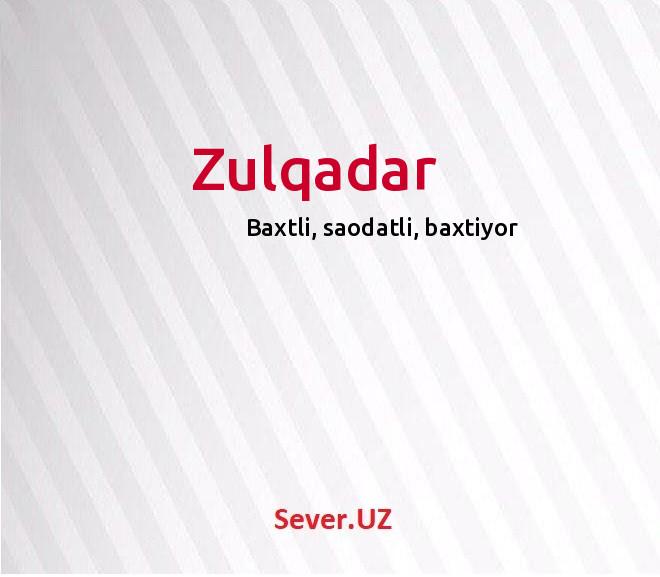Zulqadar