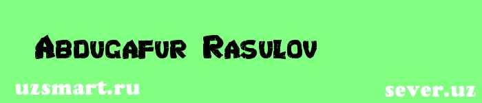 Abdugʻafur Rasulov